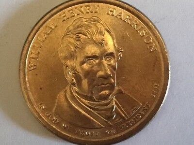 2009D William Henry Harrison. US Presidential one dollar coin.