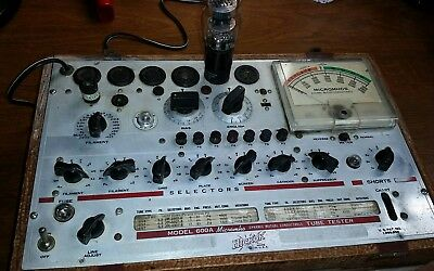 HICKOK Model 600A Dynamic Mutual Conductance TUBE TESTER