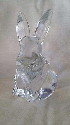 Clear Glass Easter Bunny Rabbit Figurine, Paperweight