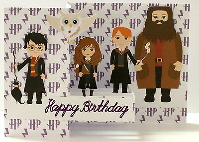 Handmade card Z fold card Harry Potter inspired Personalised *FREE POST*