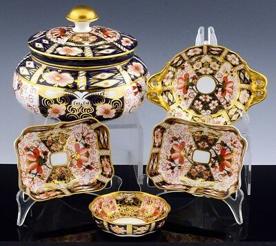 ESTATE LOT ROYAL CROWN DERBY 2451 IMARI LIDDED BOWL NUT DISHES ETC TIFFANY & Co.