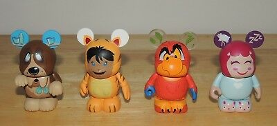Disney Vinylmation Lot Of 4 different figures Cutesters Aladdin Nana More!