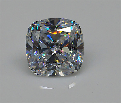 7.25Ct WHITE SAPPHIRE UNHEATED 10x10MM CUSHION SHAPE CUT AAAA+ LOOSE GEMSTONE