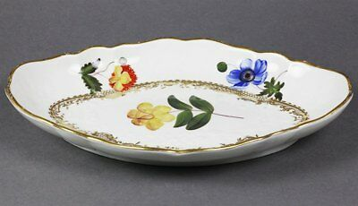 Antique Coalport Botanical Dish William Billingsley C.1810