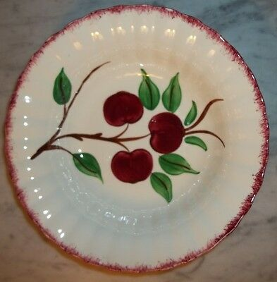 Blue Ridge Southern Potteries, Red Cherry Bounce Pattern Round Bowl, 9.5""