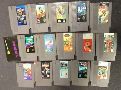 Lot of 15 Nintendo Entertainment System Games! Karate Champ and More! *USED*