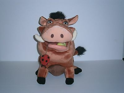 Disney The Lion King Pumbaa Plush [With Grub & Bug]