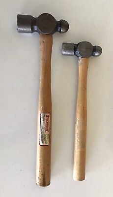 SIDCHROME  BALL PEIN HAMMERS X 2 MADE IN  1980s -90s  AUST COLLECTABLES USED