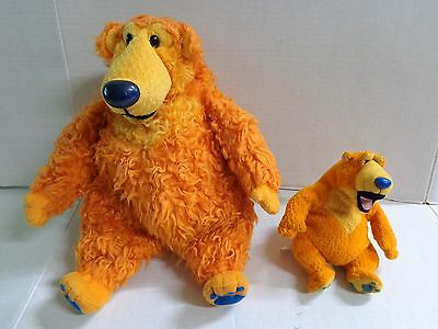 "Disney Mattel Jim Henson Bear in the Big Blue House Plush Lot of 2 7"" 15"""