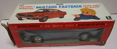 Vintage Japan Bandai Battery Operated Ford Mustang Fastback ***new In Box***