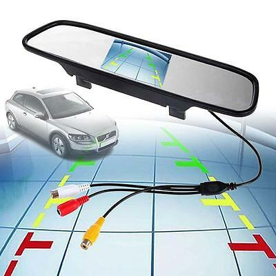"4.3"" TFT LCD Color Monitor Car Reverse Rear View Mirror for Backup Camera @UP"