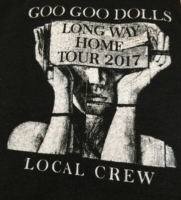 NEW Goo Goo Dolls Long Way Home 2017 Local Crew Concert Tee Size M Buffalo NY