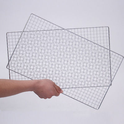2PCS BBQ Barbecue Flat Pack Replacement Stainless Cooking Grill Grid Grate Net