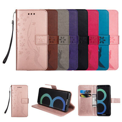 For Samsung Galaxy S9+/S7/S8+ Note 8 Flip Leather Wallet Cards Stand Case Cover