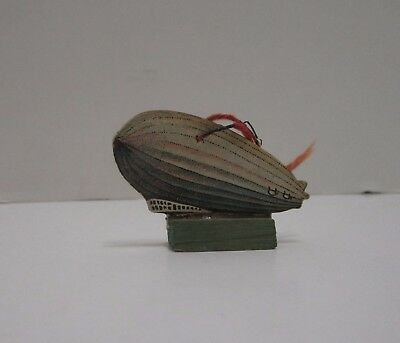 Rare Vintage Cracker Jack Wood Zeppelin Dirigible Blimp Stand Up