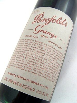 1996 PENFOLDS GRANGE Bin 95 Shiraz Unique Laser No EG157 Isle of Wine