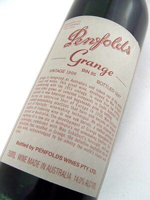 1996 PENFOLDS GRANGE Bin 95 Shiraz Unique Laser No EG156 Isle of Wine
