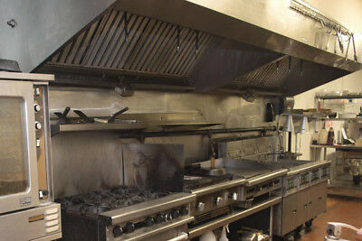 "Complete 16"" (Double 8') Stainless Steel Commercial Kitchen Exhaust Hood"