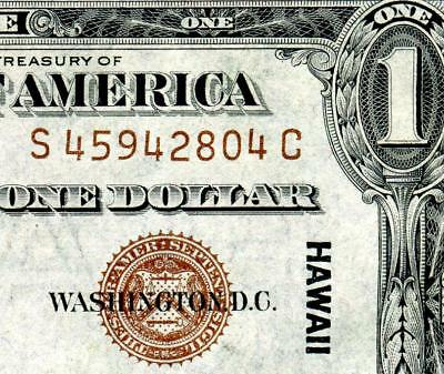 HGR 1935A $1 Hawaii ((S-C Block)) Appears GEM UNCIRCULATED