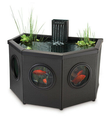 Fish Pond Half Moon Mocha Weave 336 litres - includes pump/filter/uvc