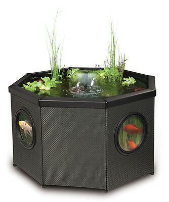 Fish Pond Octagon Mocha Weave 400 litres - includes pump/filter/uvc