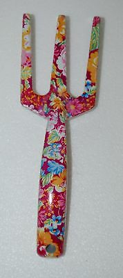 Pretty Tools 5205 Garden Fork Fuchsia Floral Design 9 Inches
