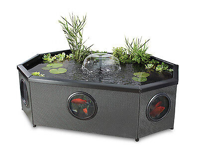 Fish Pond Grand Oval Mocha Weave 592 litres - includes pump/filter/uvc