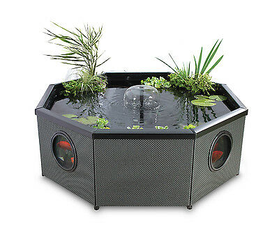 Fish Pond Grand Octagonal Mocha Weave 708 litres - includes pump/filter