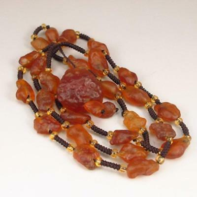Chinese Natural Agate Necklace.