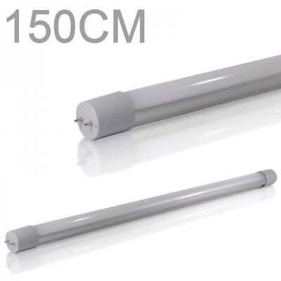 7X LED Tube lumiere Tube fluorescent T8 G13 150cm 4000k 3200lm blanc froid 24W