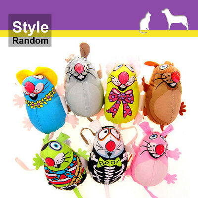 Funny Cat Chew Toys Colorful Canvas Mouse Mice Catmint Catnip Stuffed Toy