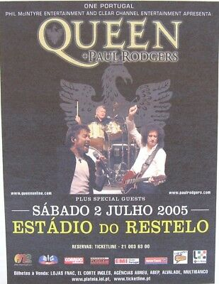 Queen + Paul Rodgers - concert advertising -  from a 2005 newspaper