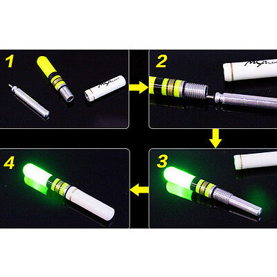 10x Luminous Floating Battery Operated LED For Dark Water Night Fishing Float