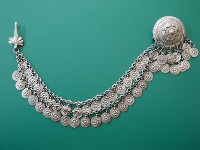 Gorgeous medieval silver alloy adornment-medallion early 19th century