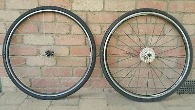 Shimano R500 & Joytech/Alexrims 700c Wheelset - with cassette and 28c tyres