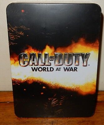 CALL of DUTY WORLD at WAR Xbox 360 Collectors TIN & FLASK NO GAME