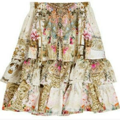 CAMILLA KIDS Girl in the Garden Long Tiered Skirt Size 10 BNWT RRP $189