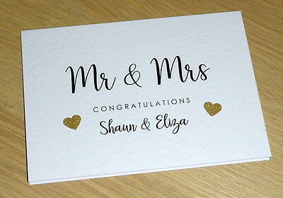 Personalised Wedding Day card - Mr & Mrs - Mr & Mr - Mrs & Mrs - handmade card