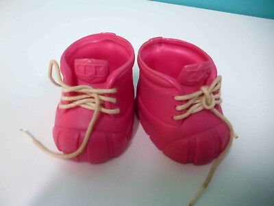 Cabbage Patch Kids Shoes Bright Pink Boots  in VG condition