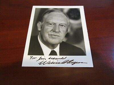 William P. Rogers Hand Signed Photo.....IKE's Attorney General/Nixon's Sec.State