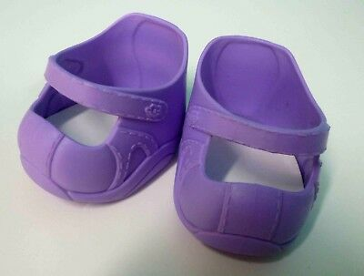 Cabbage Patch Kids CPK Shoes in VG condition Purple + bonus pair of socks