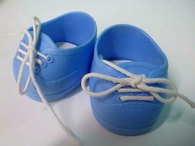 Cabbage Patch Kids CPK Shoes in VG condition Blue Includes bonus socks