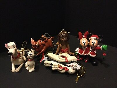 Disney Christmas Ornaments Lot Of 6