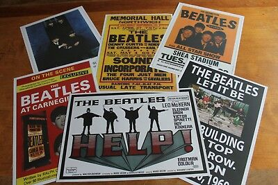 The Beatles - Set of 6 Concert Posters # 1