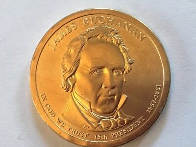 2010D Jamse Bachanan. US Presidential dollar coin.