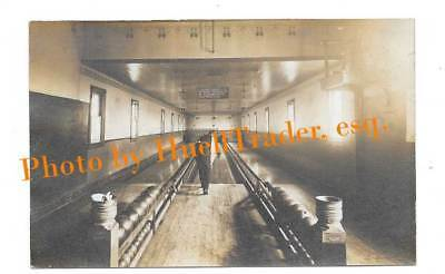 RPPC Rare and Interesting Bowling Alley Action Shot, Malta, Ohio, Unposted