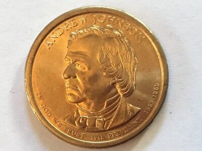 2011D Andrew Johnson. US Presidential dollar coin.