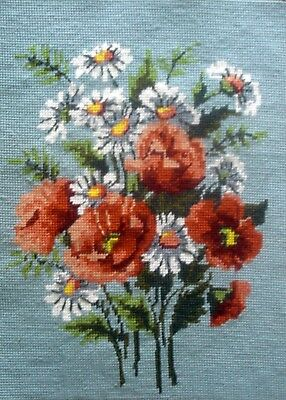 Margot Completed Tapestry Cross Stitch Unframed Picture The Poppies By Vergne