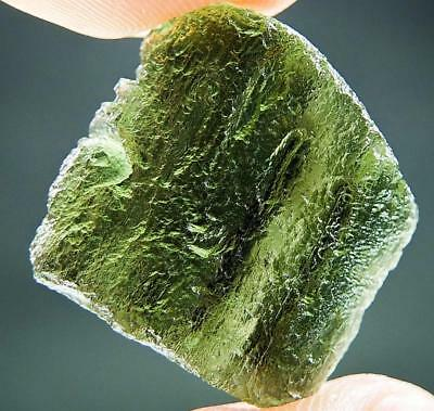 Shiny Rare Moldavite with channel and open channel