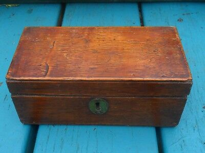 Nice Looking Old Oak Trinket/Jewellery Box, Very Good Condition